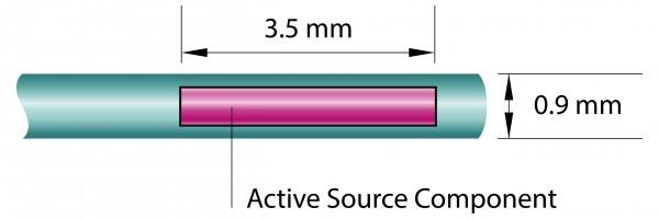 Ir-192 Source 370 GBq +30% -10%, Type: Ir2.A85-2